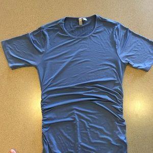 ASOS maternity dress short sleeve long slit 6